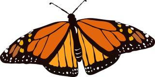 Mariposa de monarca del vector Fotografía de archivo libre de regalías