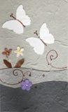 Mariposa de Papercraft con la flor Fotos de archivo