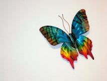 Mariposa decorativa en la pared Imagen de archivo libre de regalías