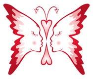 Mariposa del amor ilustración del vector