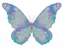 Mariposa del ejemplo en un fondo blanco libre illustration