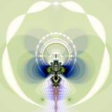 Mariposa del fractal Imagen de archivo libre de regalías