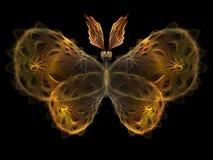 Mariposa del fractal Imágenes de archivo libres de regalías