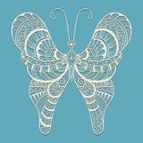 Mariposa del garabato del vector, ilustración del vector