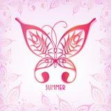 Mariposa del gráfico de vector Ejemplo de un insecto del verano Fotografía de archivo