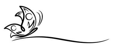 Mariposa del logotipo libre illustration