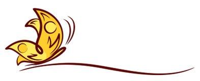 Mariposa del logotipo ilustración del vector