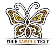 Mariposa del oro Foto de archivo libre de regalías