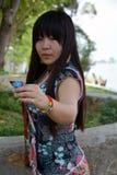 Mariposa del árbol de la muchacha Fotos de archivo libres de regalías