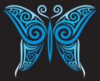 Mariposa del tatuaje Fotografía de archivo