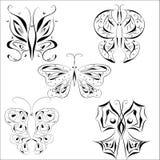 Mariposa del tatuaje Imágenes de archivo libres de regalías