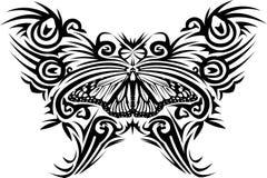 Mariposa del tatuaje Foto de archivo libre de regalías