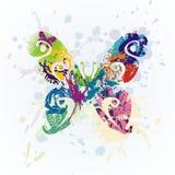 Mariposa del vector Fotografía de archivo