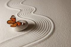 Mariposa del zen Imágenes de archivo libres de regalías