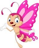 mariposa divertida de la historieta ilustración del vector