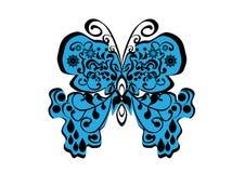 Mariposa en fondo aislado Imagen de archivo