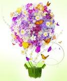 Mariposa en las flores Foto de archivo libre de regalías