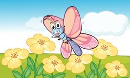 Mariposa en naturaleza stock de ilustración