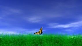 Mariposa en un día pacífico ilustración del vector