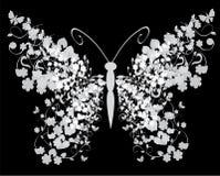 Mariposa floral Imagenes de archivo