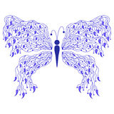 Mariposa floral abstracta Fotos de archivo