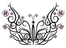 Mariposa, flores de cerezo Imagen de archivo libre de regalías