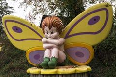 Mariposa grande del bebé del juguete Fotografía de archivo