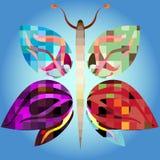 Mariposa grande del mosaico Fotografía de archivo libre de regalías