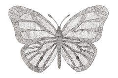 Mariposa hecha con el modelo de puntos Fotos de archivo libres de regalías