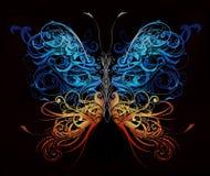 Mariposa hecha de formas del flourish libre illustration
