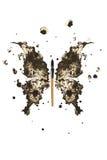 Mariposa hecha de la tinta negra Fotografía de archivo