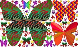 Mariposa hermosa con el fondo blanco libre illustration