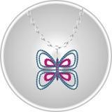 Mariposa hermosa del diamante Fotos de archivo