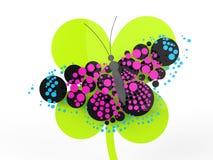 Mariposa hermosa en mirada rendida Foto de archivo