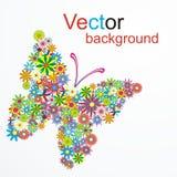 Mariposa ideal del vector Fotografía de archivo libre de regalías