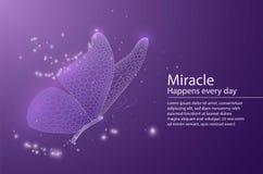 Mariposa integrada por el panal Ejemplo polivinílico bajo del vector de un cielo de la estrella o un espacio o un submarino La pá stock de ilustración