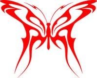 Mariposa llameante (vector) 6 tribales Fotografía de archivo libre de regalías