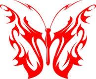 Mariposa llameante (vector) 9 tribales Foto de archivo libre de regalías