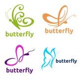 Mariposa Logo Template Foto de archivo