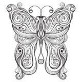 mariposa monocromática Imágenes de archivo libres de regalías