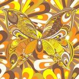 Mariposa multicolora abstracta Fotografía de archivo libre de regalías