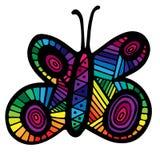 Mariposa multicolora para el tatuaje, libro de colorear Fotos de archivo libres de regalías