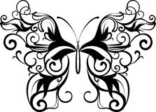 Mariposa ornamental ilustración del vector