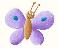 Mariposa púrpura linda
