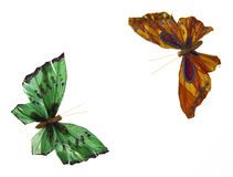 Mariposa paper. In a totally white background royalty free stock image