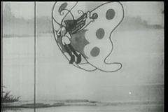 Mariposa que toca el violín libre illustration