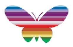 Mariposa rayada I Fotografía de archivo