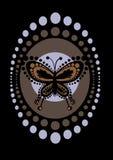 Mariposa retra ilustración del vector