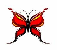 Mariposa roja abstracta ilustración del vector