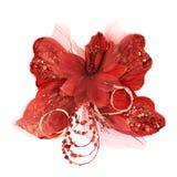Mariposa roja del sintético del decorational Fotos de archivo libres de regalías